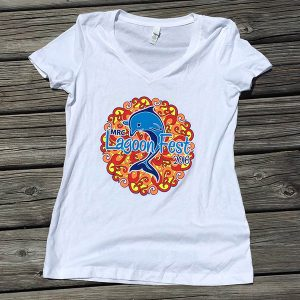 Ladies V-necks - White